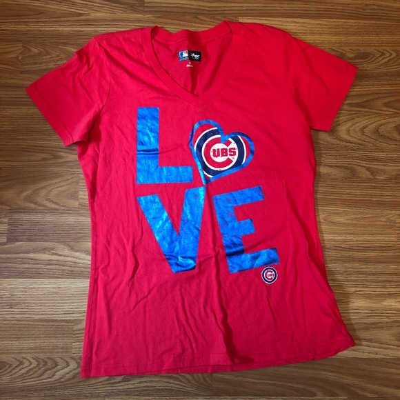 brand new d4318 ae00c [MLB] Chicago Cubs Love Shirt